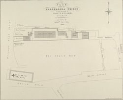 PLAN of the late MARSHALSEA PRISON in the Borough of SOUTHWARK